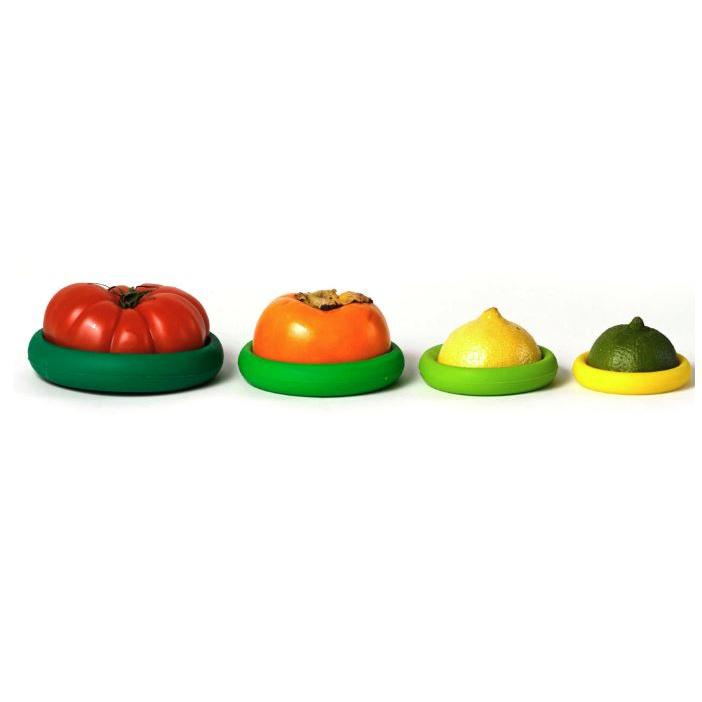 Set Of Five Reusable Food Savers