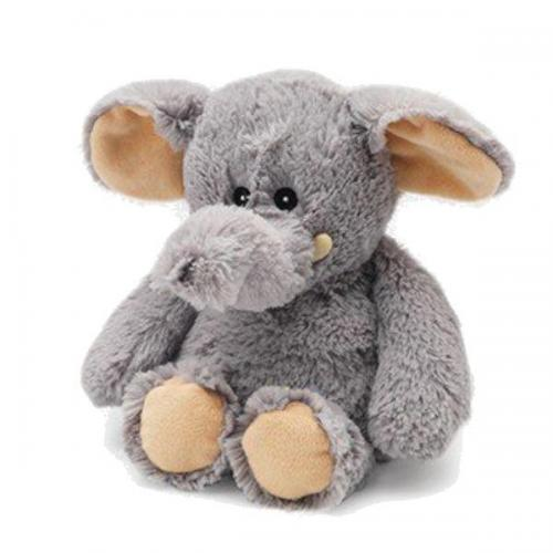 Warmies Heatable Stuffed Animal Elephant Grey 13in