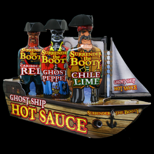 Barbecue Hot Sauce Pirate Surrender The Booty Ghost Ship Set Of 3