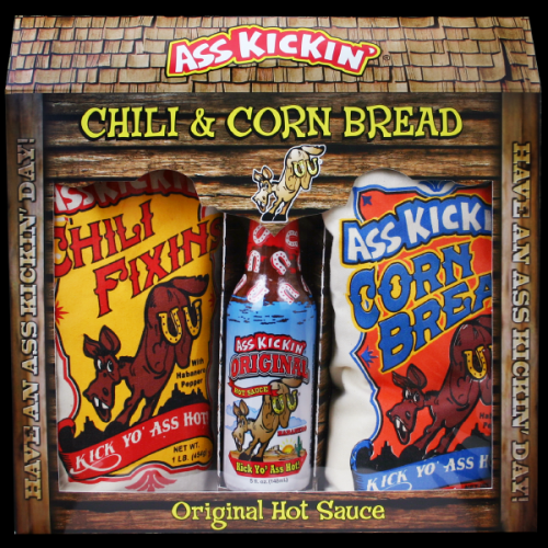 Gift Set Ass Kickin Chilli & Corn Bread