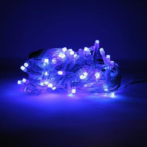 Outdoor String Light 100 Led 32 Feet Blue Color Elec W/connector