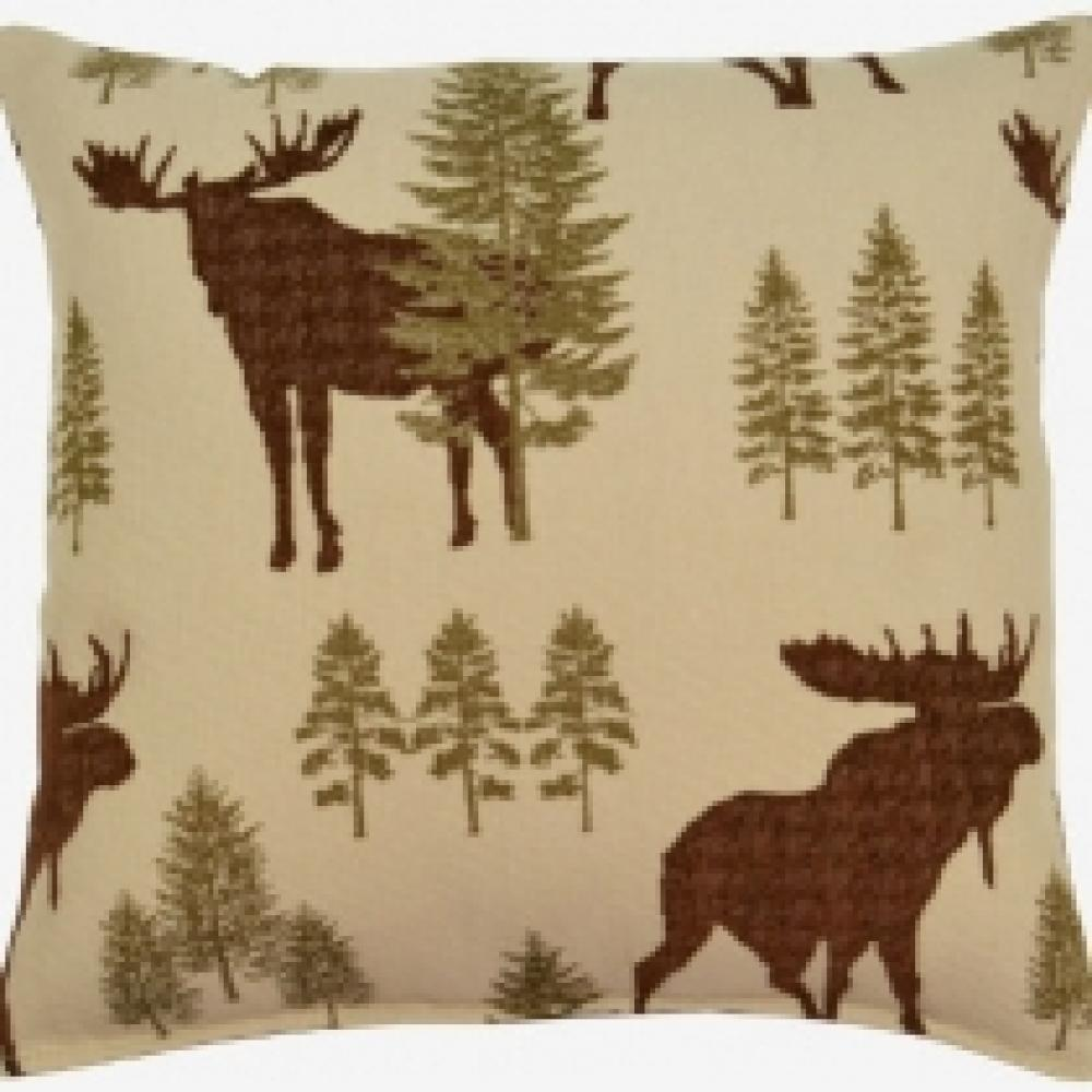 Woodland Forest Pillow 17in X 17in