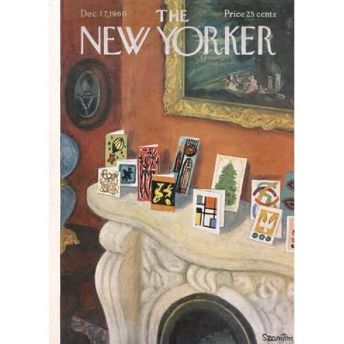Christmas Card - New Yorker - On The Mantel
