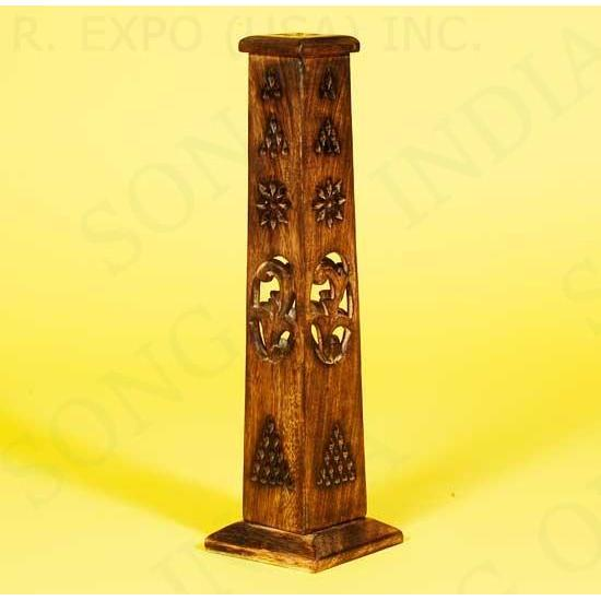 Incense Burner Tower Burnt Wood
