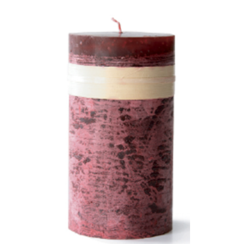 3.25 X 3in Pillar Candle - Wine