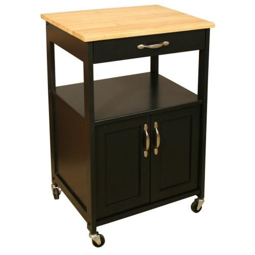 Kitchen Cart With Black Base 23x17