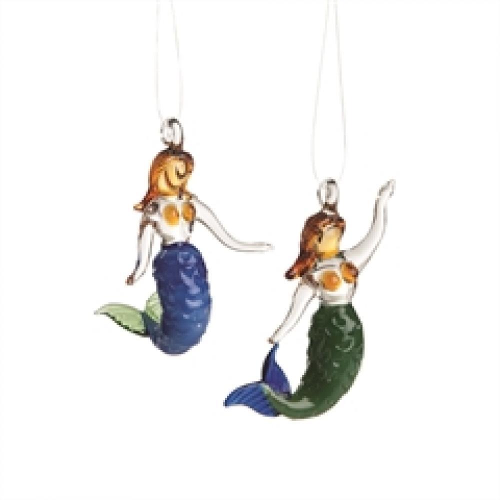 Christmas - Ornament - Mini Artglass Mermaid
