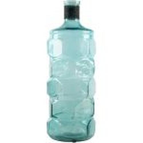Vase Bottle Turquoise 16in