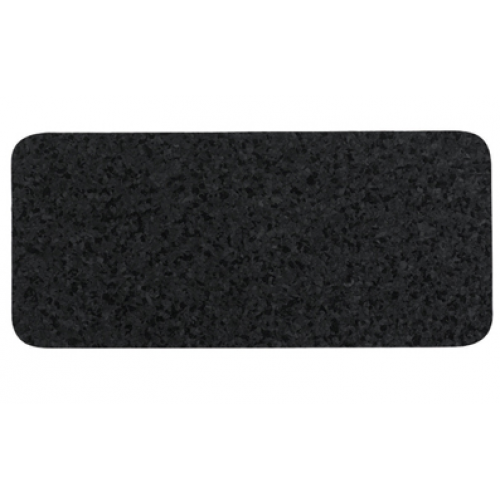 Petmat Recycled Rubber Skinny Rectangle - Black
