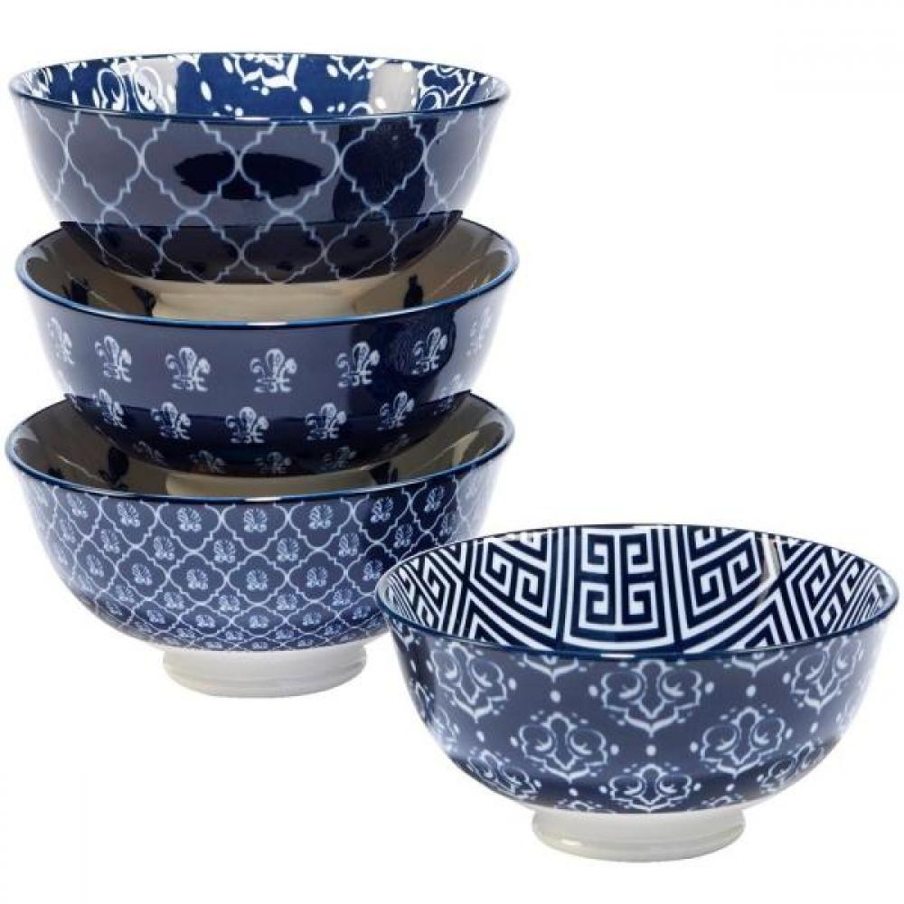Dinnerware \'blue Indigo\' Ice Cream Bowl 6in Assorted Styles