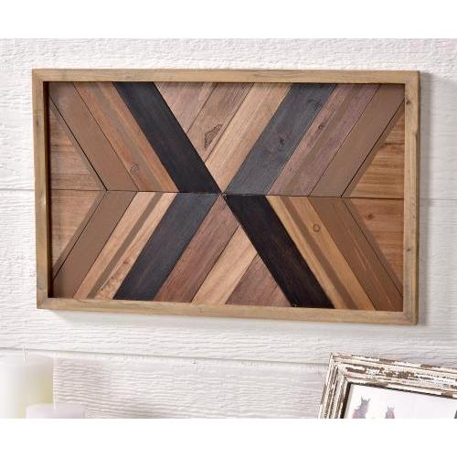 Framed Pine Mdf Print Arrows Pointing To Center 18.75 X 11.75