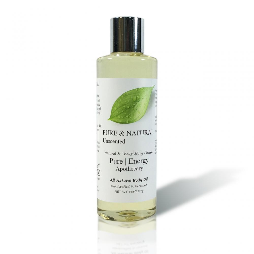 Body Oil 8oz - Pure & Natural Unscented
