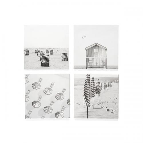 Canvas Print Umbrella / Hut 11in 4 Assorted Styles