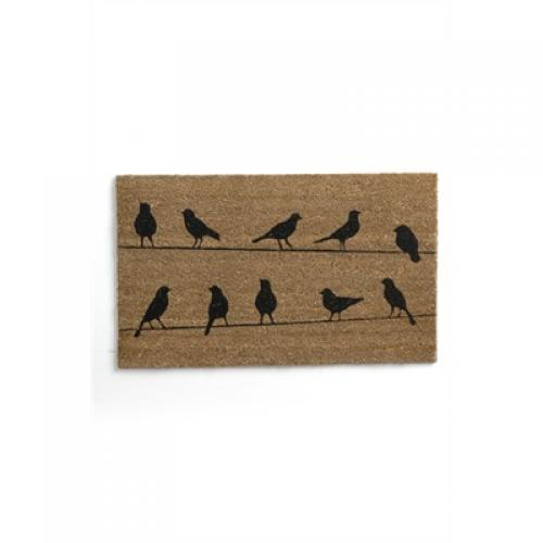Doormat Coir Flock Black / Natural 18in X 30in