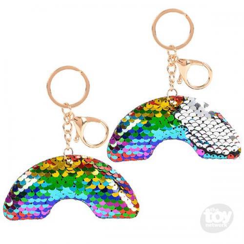 Flip Sequin Keychain Rainbow