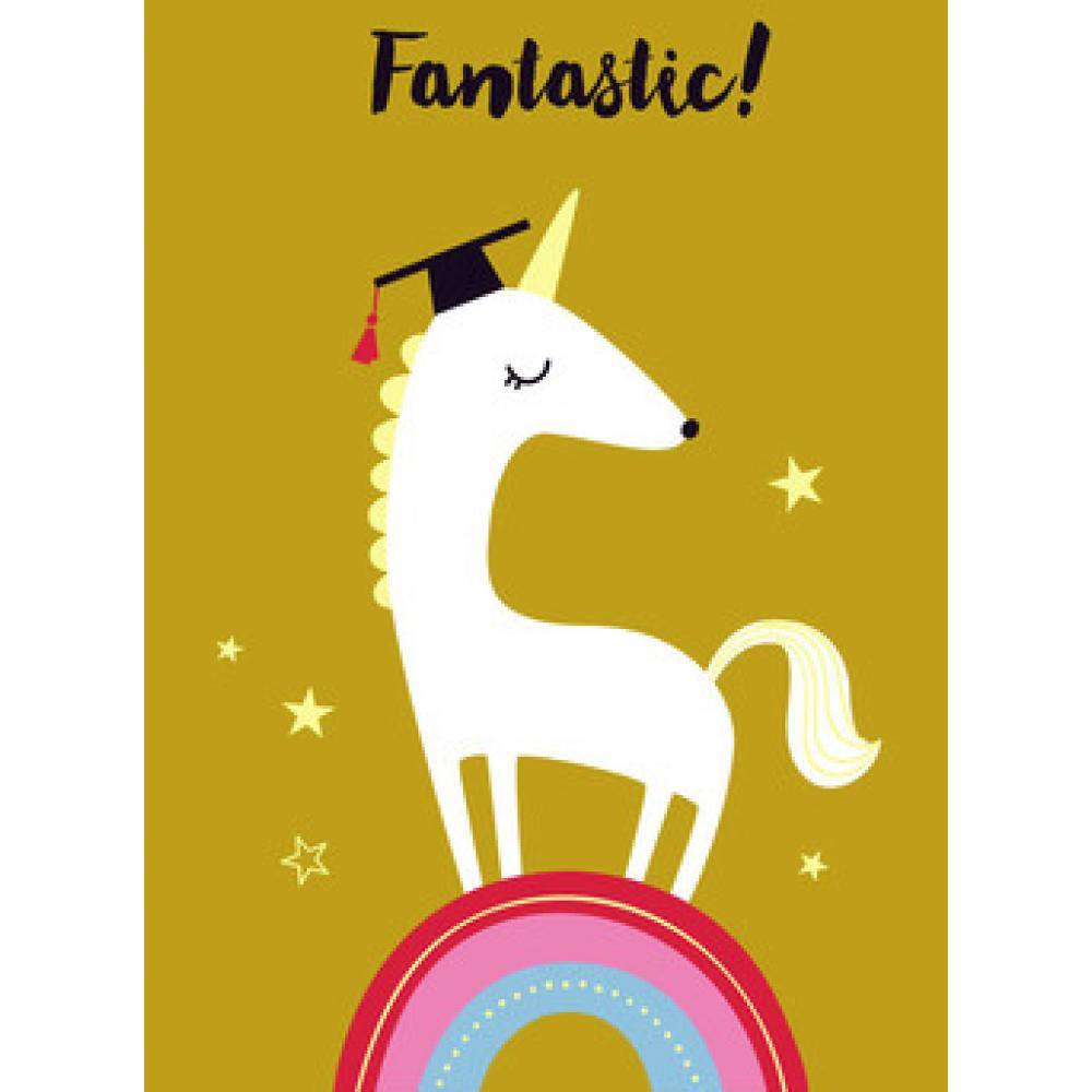 Graduation - Unicorn Graduate On Metallic