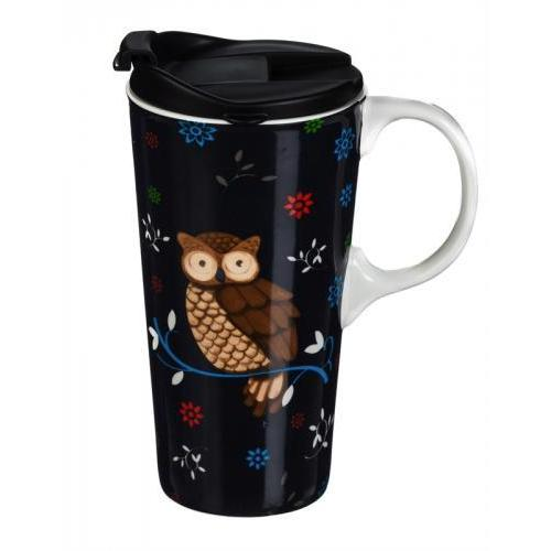 Seasonal Holiday Travel Mug Ceramic With Box 17 Oz - Everday Owl
