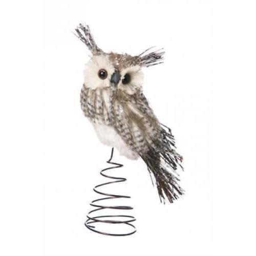 Seasonal Holiday Tree Topper Bristle Owl