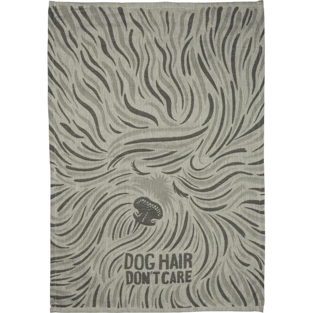 Dish Towel Jaquard Dog Hair