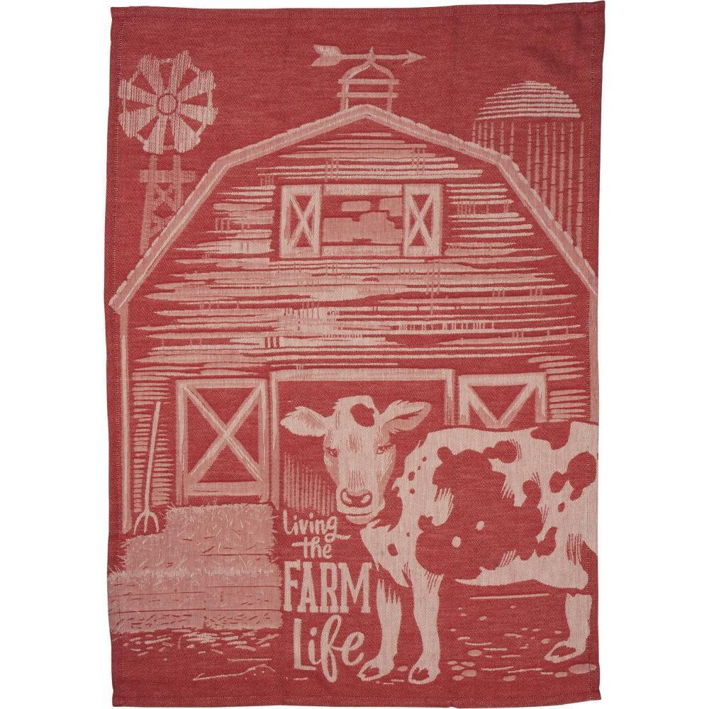 Dish Towel Jaquard Farm Life