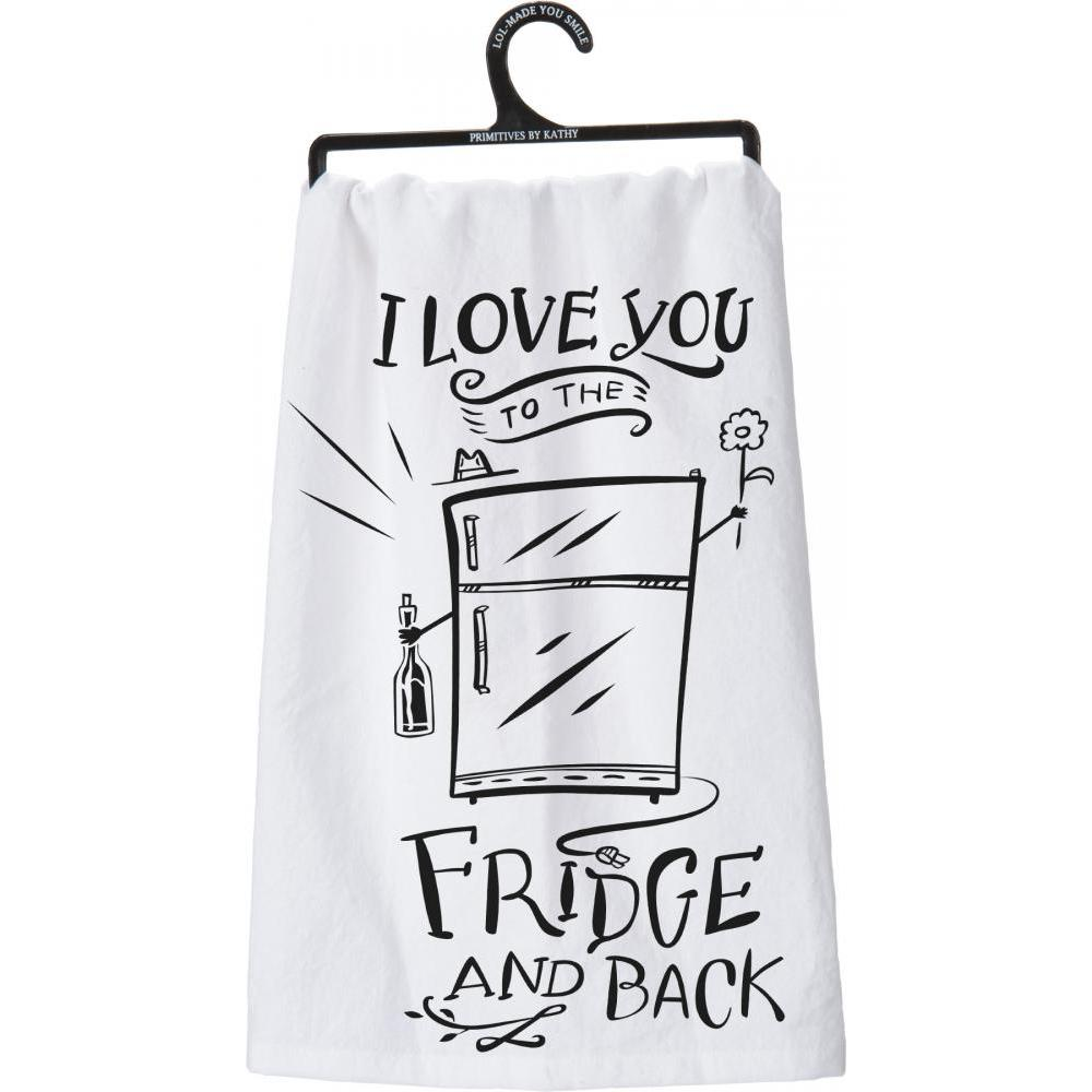 Dish Towel To The Fridge