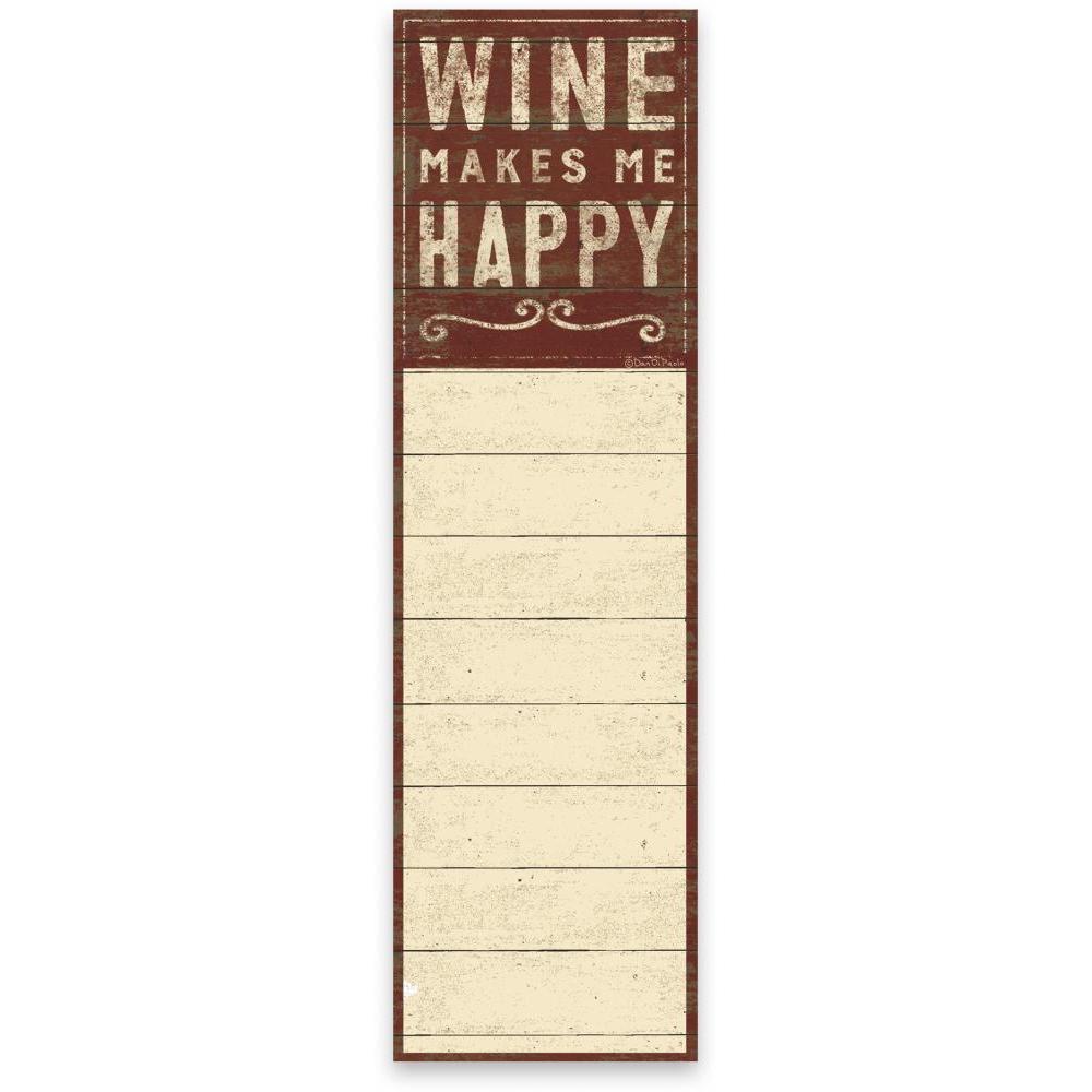 List Notepad Wine Happy