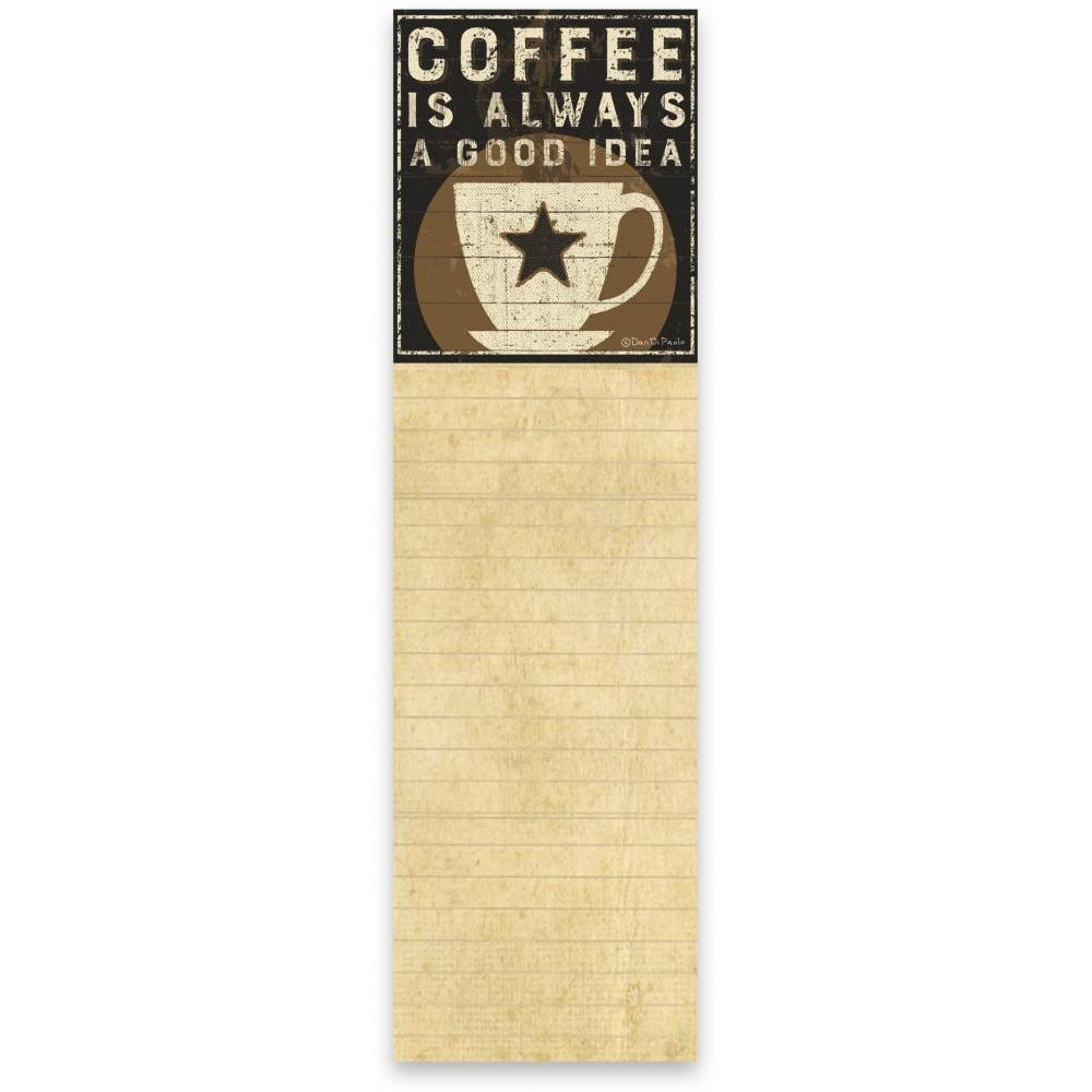List Notepad Coffee