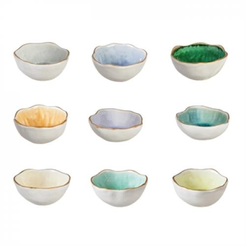 Ceramic Trinket Dish In White Wash, Assorted
