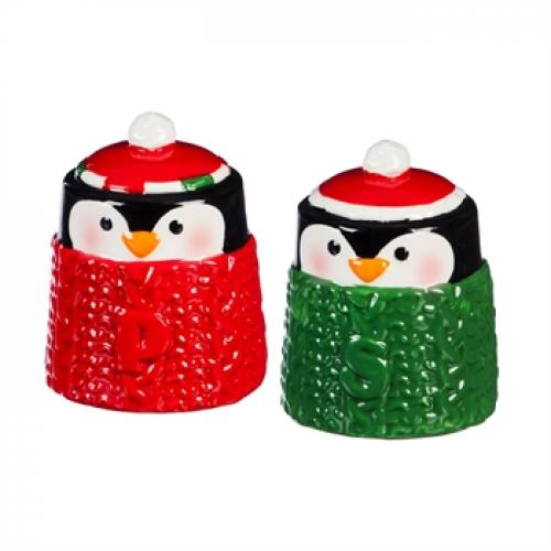 Seasonal Holiday Salt And Pepper Shaker - Cozy Penguins