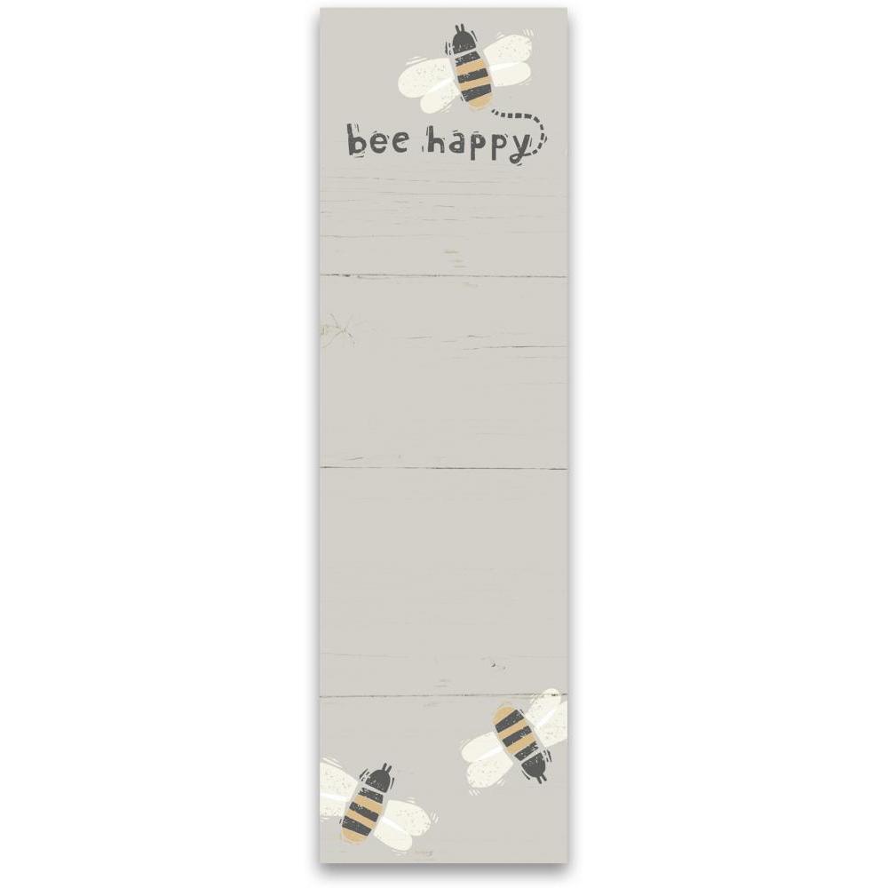 List Notepad Bee Happy