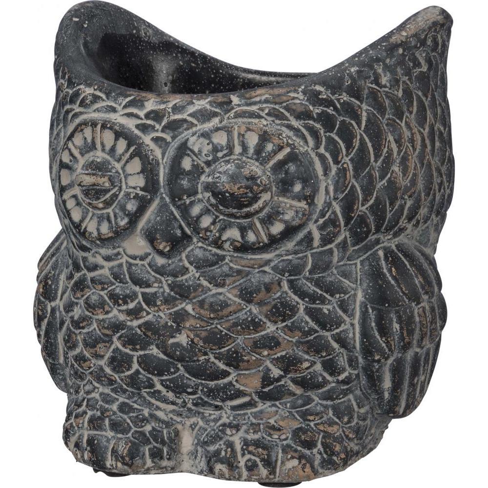 Planter Cement Owl Large