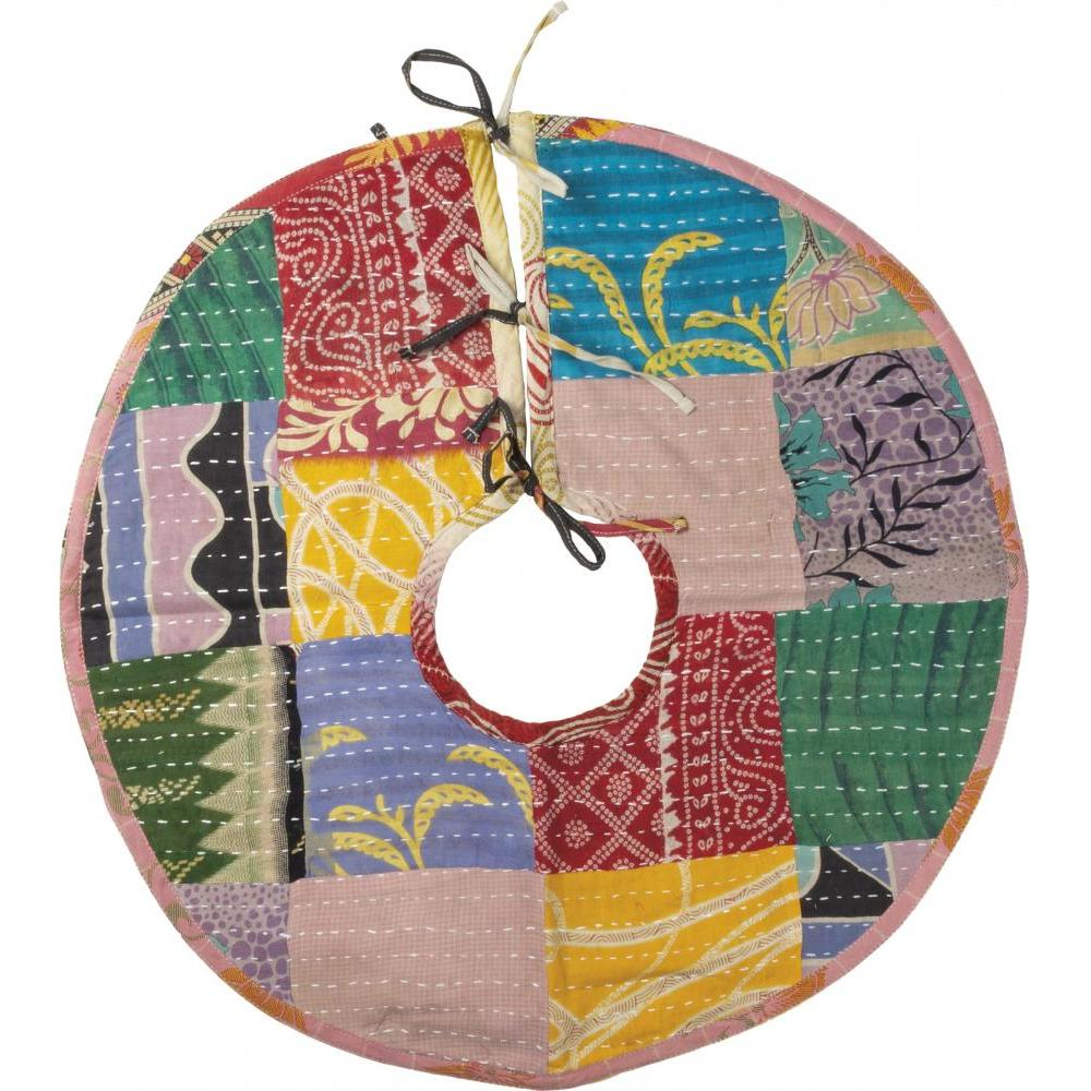 Christmas - Tree Skirt Medium Kantha
