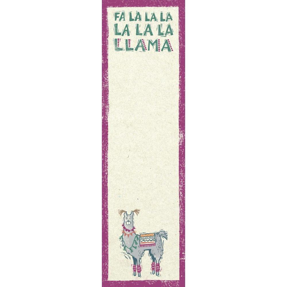 Christmas - List Notepad Fa La Llama
