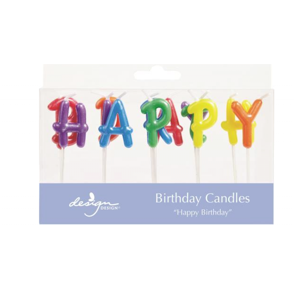 Birthday Candles - Birthday Letters Rainbow Pearl