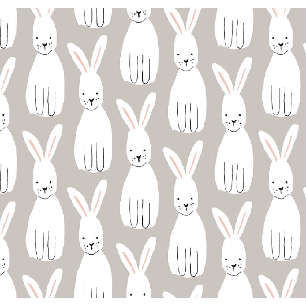 Wrapping Paper Bunnies Love