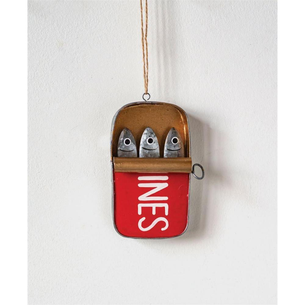 Seasonal Ornament Sardines Metal