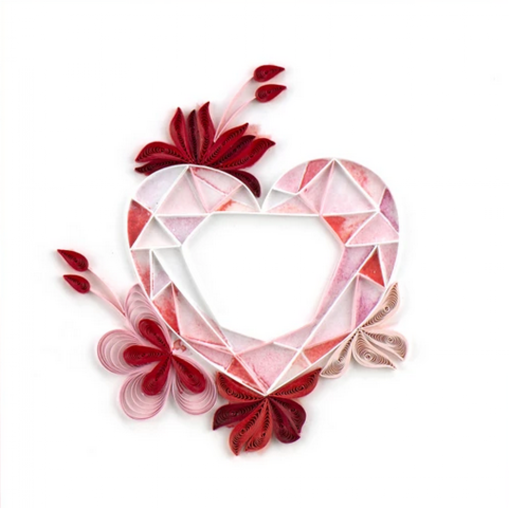 Any Occasion - Quilling Card - Gemstone Heart