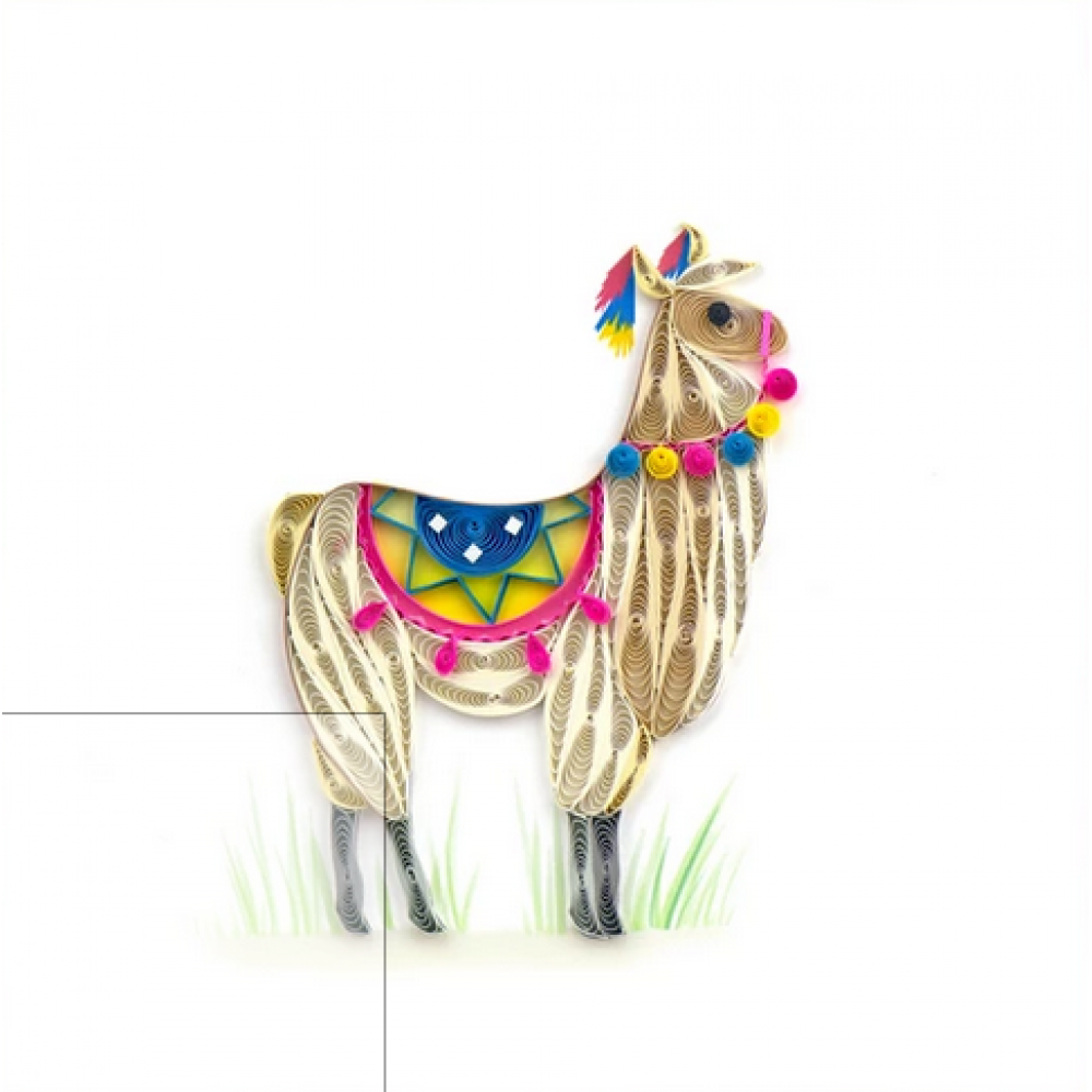 Any Occasion - Quilling Card - Llama