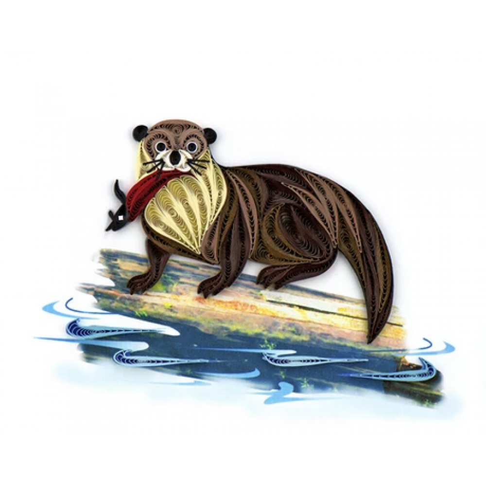 Any Occasion - Quilling Card - Otter