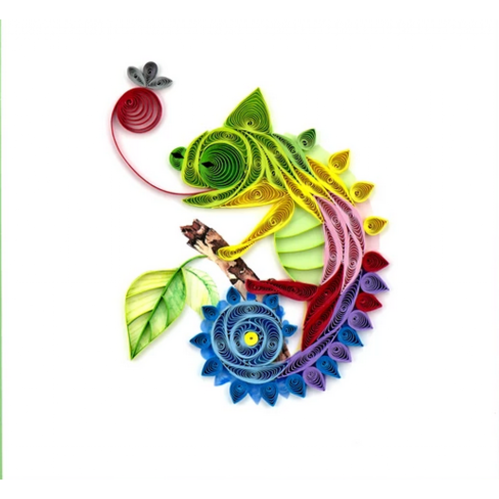 Any Occasion - Quilling Card - Chameleon