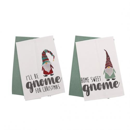 Seasonal Christmas - Gnome Dishtowel