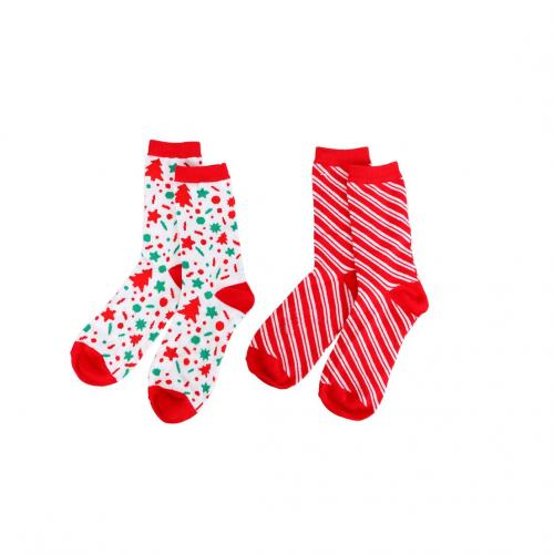 Christmas - Sock - Candy Patterned