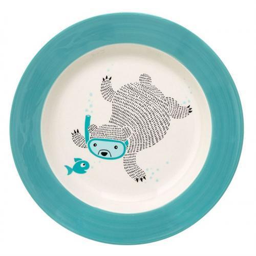 Kids Dinnerware Benjamin Soup Plate Bear