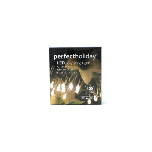 String Light 100 Led Battery Warm White