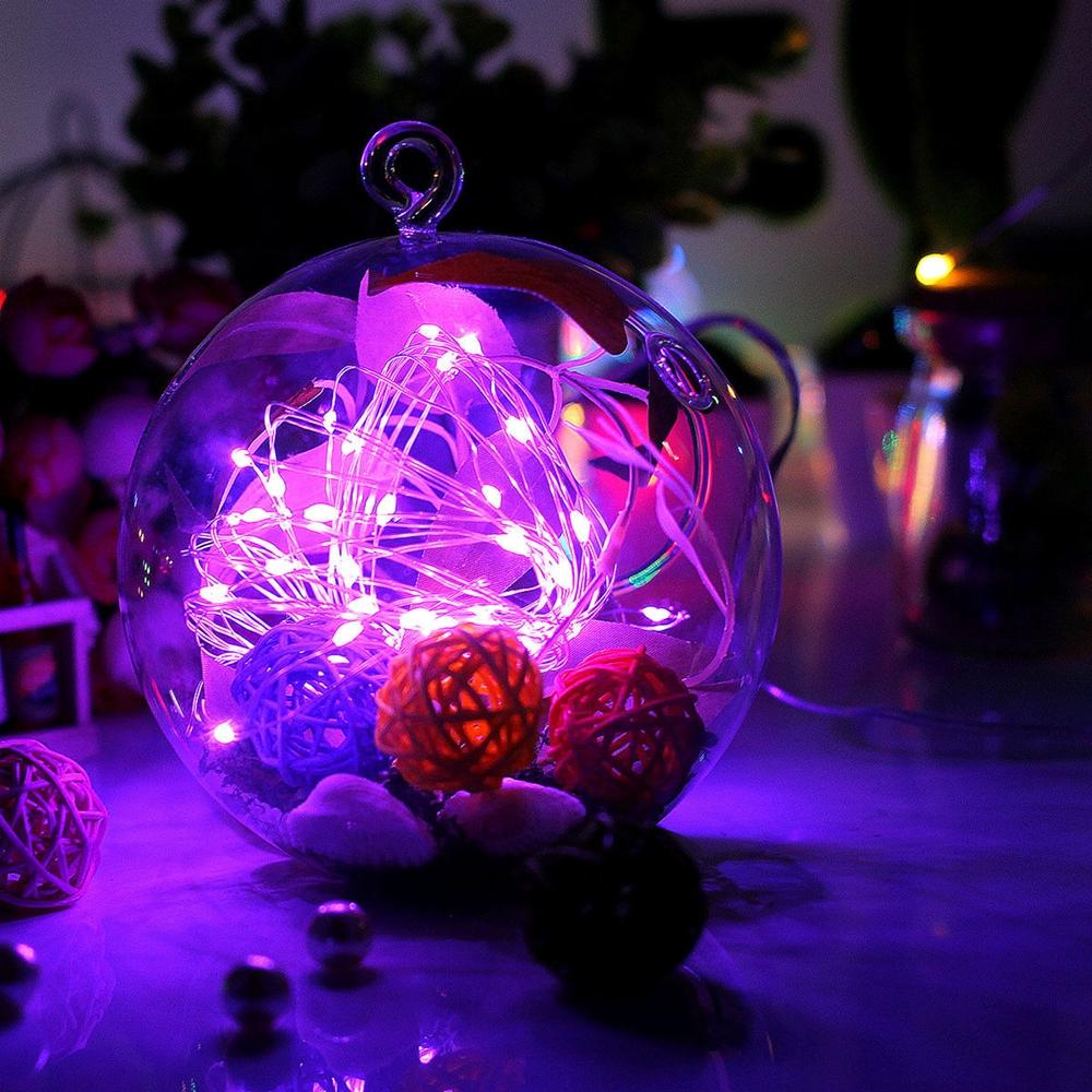 String Light 100 Led Wire Plug Pink  indoor- outdoor