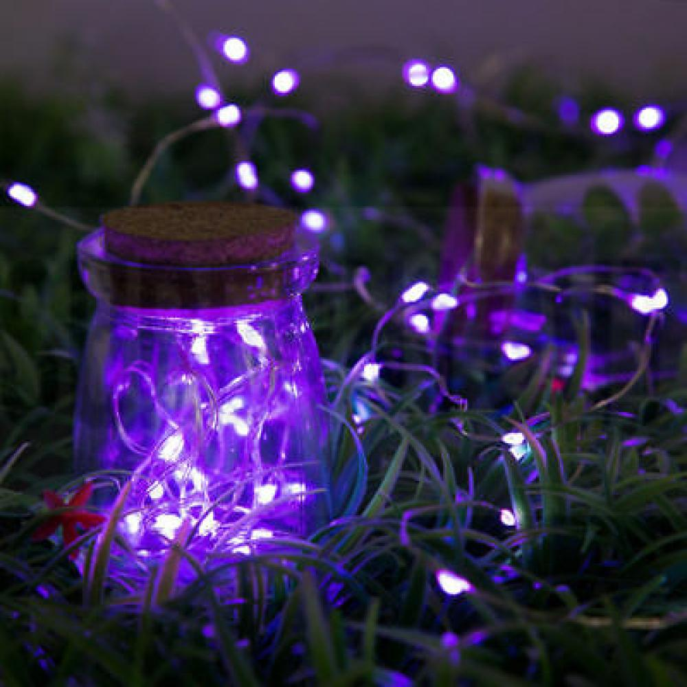 String Light 100 Led Wire Plug Purple  indoor- outdoor