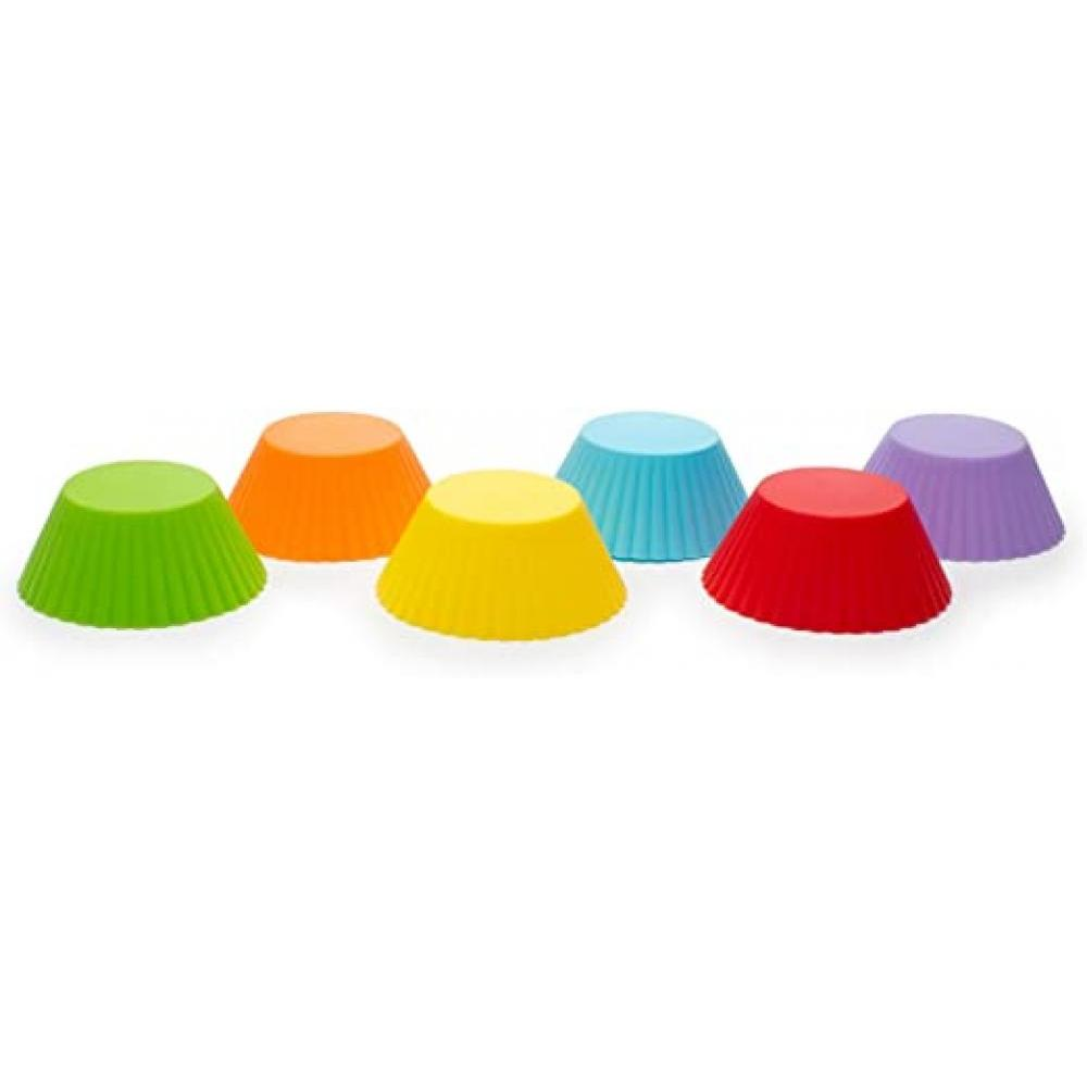Baking Muffin Cupcake Cups Silicone Reusable Assorted Colors Pack