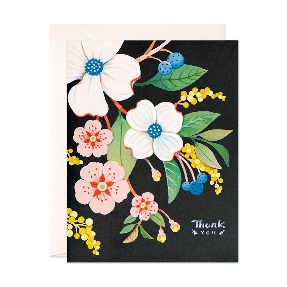 Thank You - Navy Floral