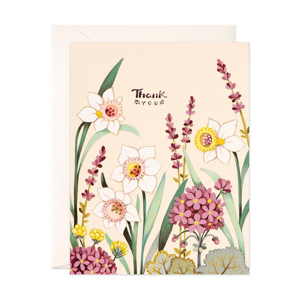 Thank You - Cream Floral