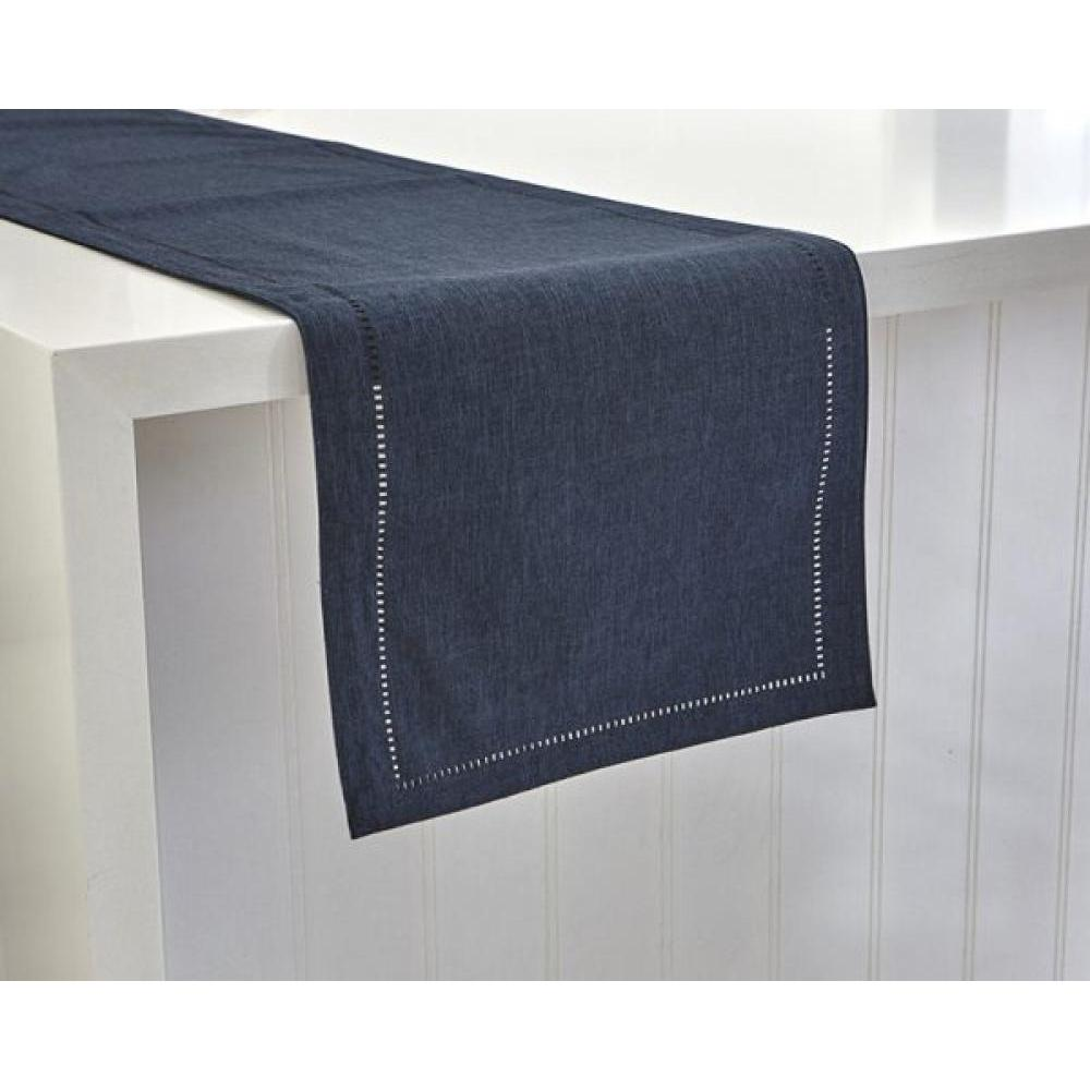 Table Runner - Linen Look 14x72 - Navy